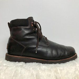 UGG Brown Sherpa Lace-Up Work Boot Size 9